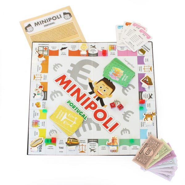 Imagem do interior do jogo Minipoli - Portugal