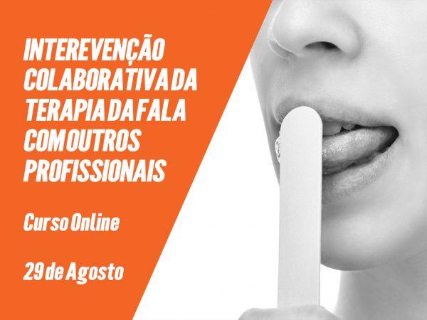 """Curso """"Intervenção Colaborativa da Terapia da Fala com outros Profissionais"""""""