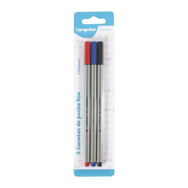 Pack de 3 canetas de ponta fina